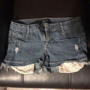 Short blue jean shorts